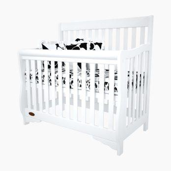 Patut bebelusi copii lemn Amalia alb