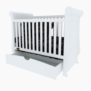 Patut bebelusi copii lemn Mary alb