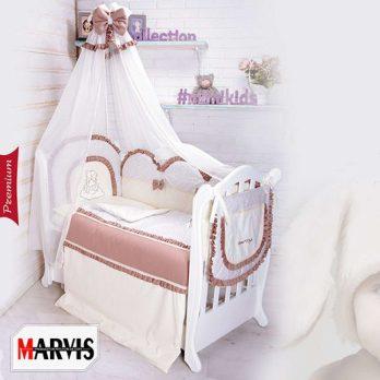 Lenjerie 8 piese Teddy Premium Maro