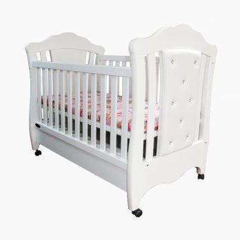 Patut bebelusi copii lemn Riana alb