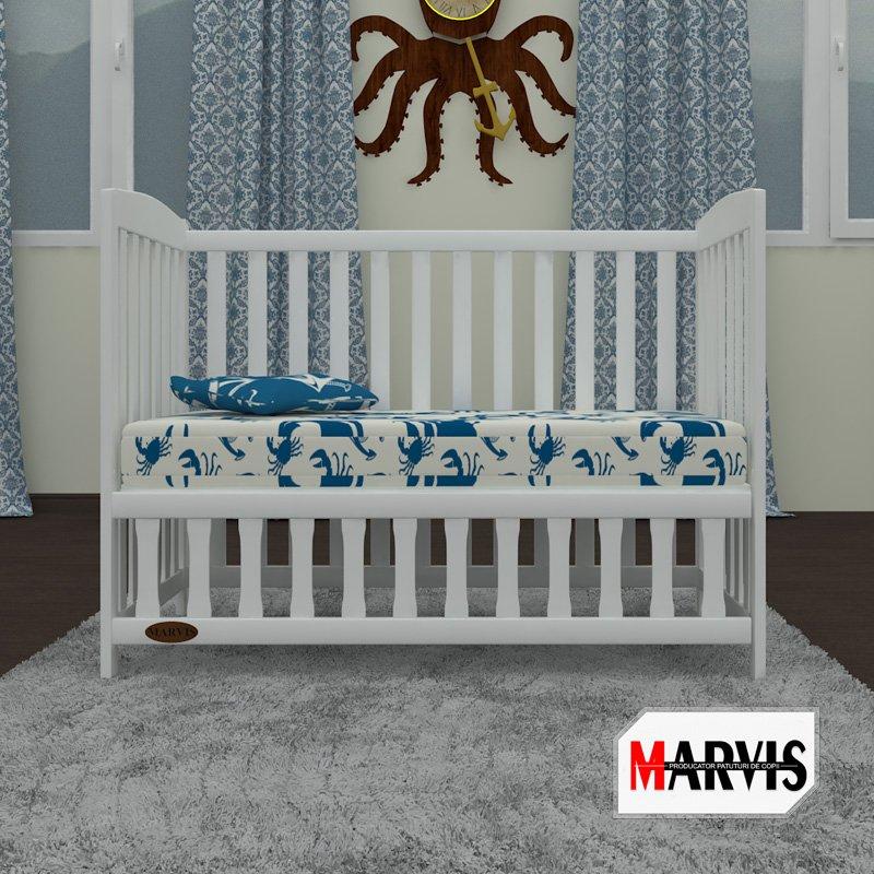 patut bebe tip sofa alb