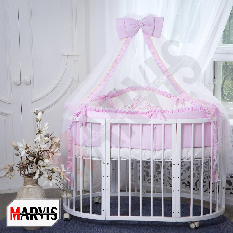 Lenjerie Patut Bebe / Copii 10 piese Mon Amie Roz