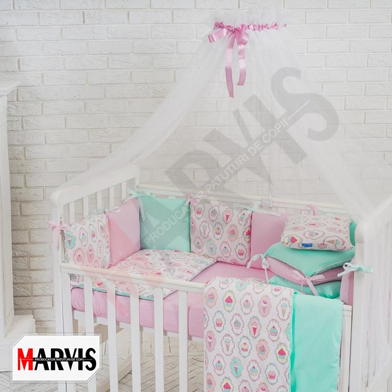 Lenjerie colorata patut bebe