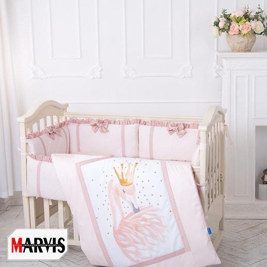 Lenjerie Patut Bebe / Copii 10 piese Flamingo Roz