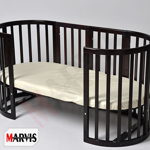 Patut bebe din lemn masiv rotund