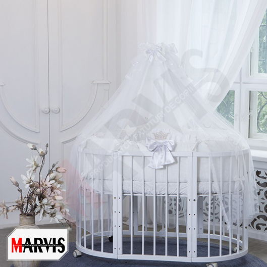 Lenjerie Patut Bebe / Copii 10 piese Baby Alb