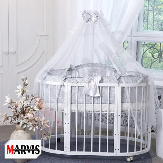 Lenjerie Patut Bebe / Copii 10 piese Baby Gri