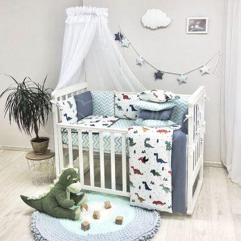 Lenjerie Patut Bebe Copii 8 piese Dino