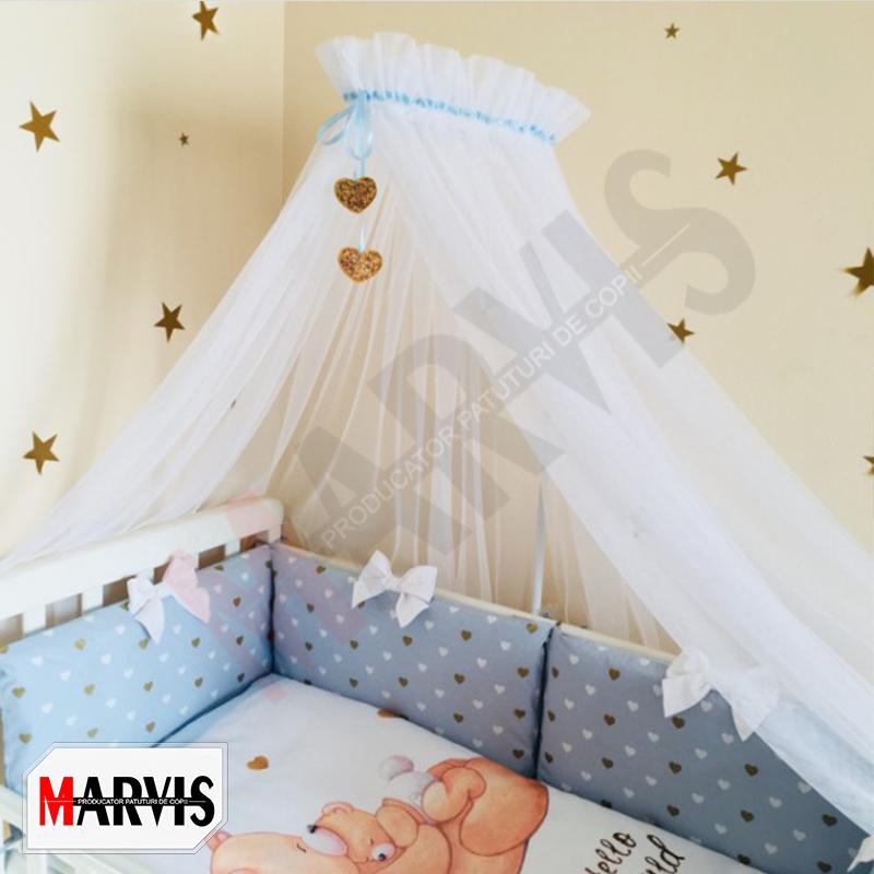Lenjerie Patut Bebe / Copii 8 piese Happy Baby albastra