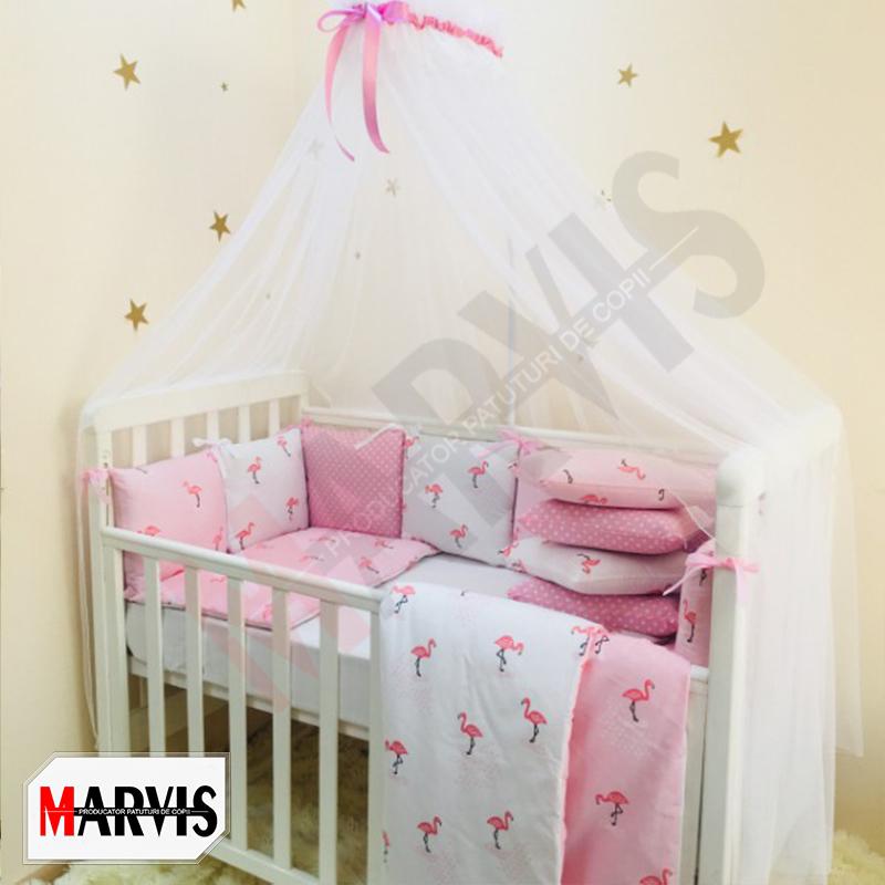 Lenjerie Patut Bebe / Copii 8 piese Basic Flamingo roz