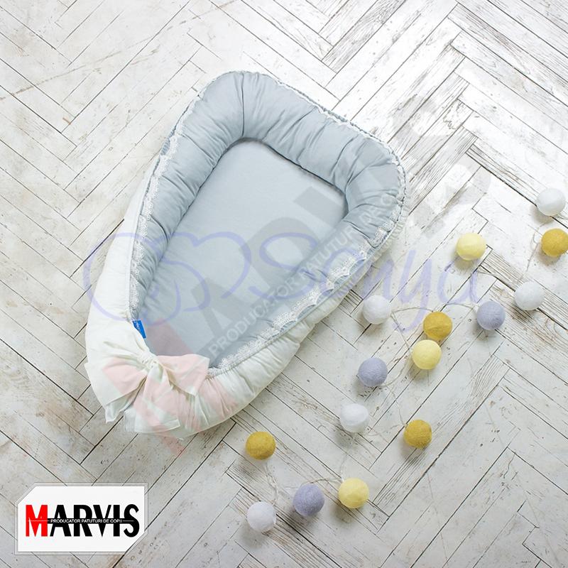 Protectie somn – Baby Nest Mon Cheri gri