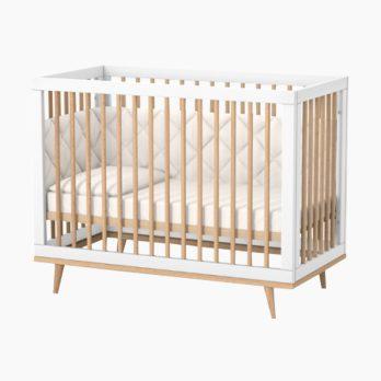 Patut bebelusi copii lemn Luca alb-natur