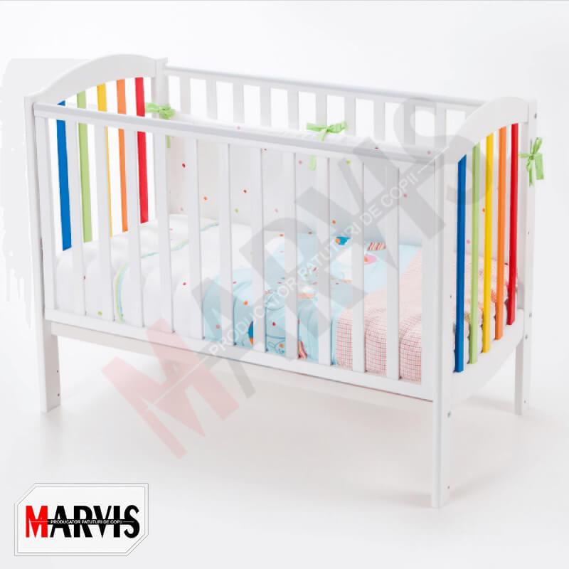 Patut bebelusi / copii lemn Rainbow