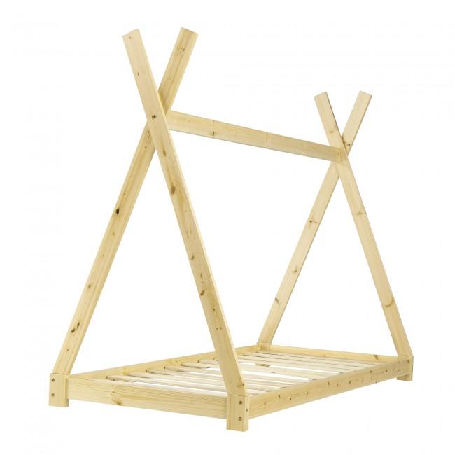 Pat dun lemn masiv pentru adolescenti