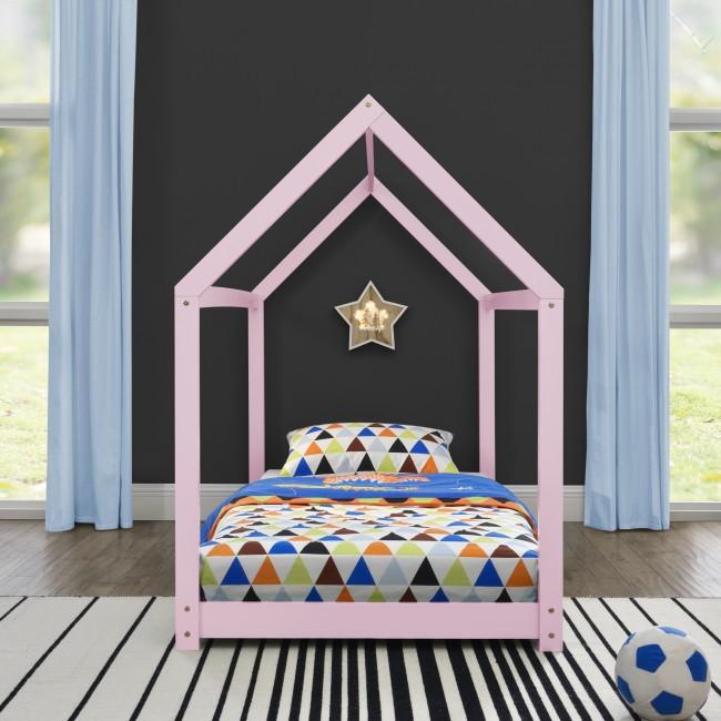 pat din lemn roz