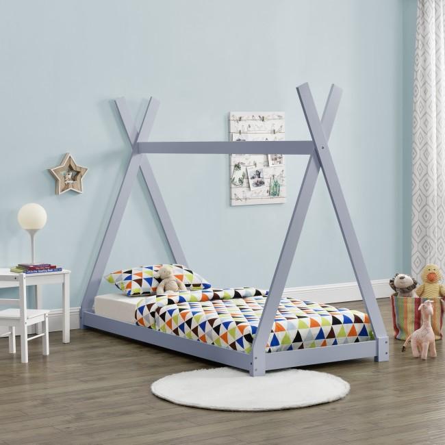 pat pentru copii gri deschis