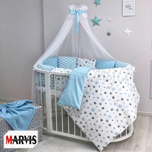 Lenjerie Patut Bebe / Copii 11 Baby Stars Blue