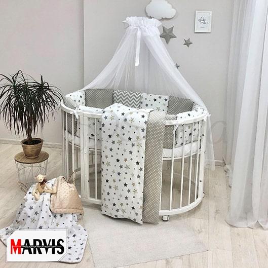 Lenjerie Patut Bebe / Copii 11 Baby Stars Grey