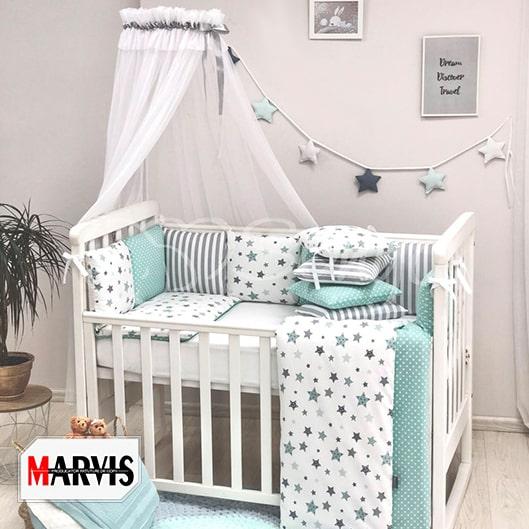 Lenjerie Baby Stars Mint