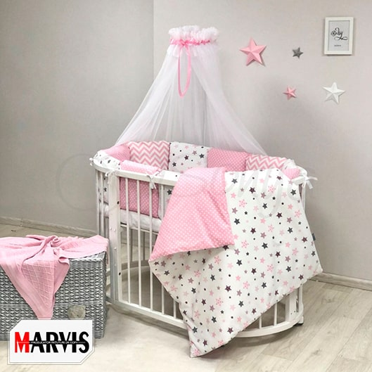 Lenjerie Patut Bebe / Copii 11 Baby Stars Pink