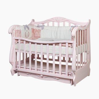 Patut bebelusi copii lemn Quinny roz