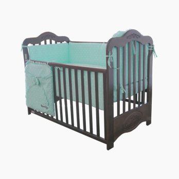 Patut din lemn pentru bebelusi-copii Andrei maro