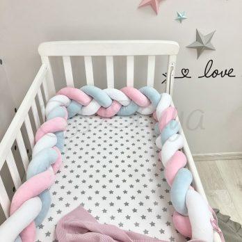 Protectie laterala patut bebe multicolora