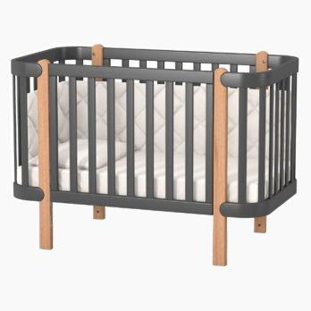 Patut bebelusi copii lemn Maia gri inchis