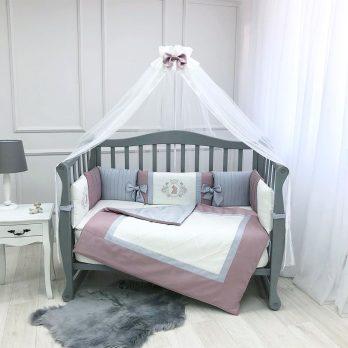 Lenjerie Patut Copii Bebe 9 piese Royal pink